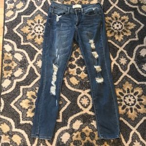 Mudd Deconstructed Jegging Size 5 Juniors EUC